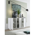 Ice 138cm modern sideboard in white gloss finish