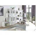 Bookcase Zeta in white high gloss
