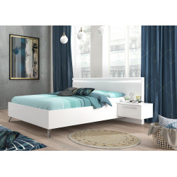 Liana luxury high gloss finish bed with LED lights