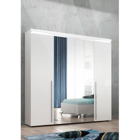Liana 4 doors wardrobe with LED lights