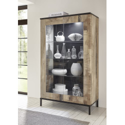 Mango II two door display cabinet with LED lights