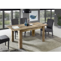 Mango II extendable dining table in canyon oak finish