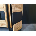 Omega assembled large solid wood display cabinet with LED lights