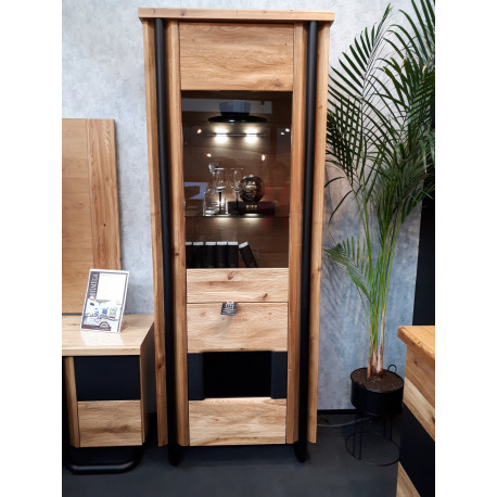 Omega assembled narrow display cabinet with LED lights
