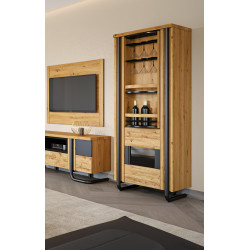 Omega assembled rotating bar cabinet