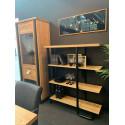 Omega bookcase in wild oak