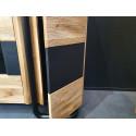Omega assembled large TV stand in wild oak