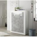 Fiorano 110cm highboard in white gloss and concrete finish