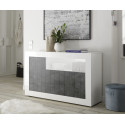 Fiorano 138cm sideboard in white gloss and oxide finish