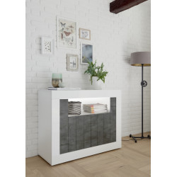 Fiorano 110cm sideboard white gloss and oxide finish