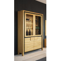 Nesco assembled large solid wood display cabinet