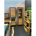 Nesco narrow assembled solid wood display cabinet
