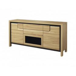 Nesco assembled sideboard with decorative steel net