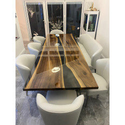 Aria V bespoke grey resin dining table