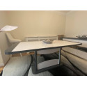 Capella grey and white extendable dining table
