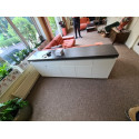 Atena III- 200cm matt sideboard with LED lights