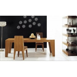 Central solid wood dining table