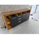 Score large sideboard in wotan oak and grey matera finish