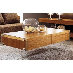 Central I bespoke coffee table with glass legs