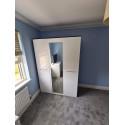 Laser 3 door wardrobe with mirror