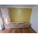 Santori 210cm assembled solid wood TV Unit