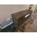 Fiorano 138cm TV unit in oxide finish