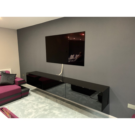 Alpina II - bespoke hanging TV Unit series in various sizes and setups