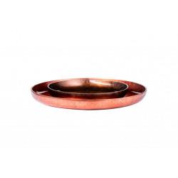 Bowl decorative Round Tray Red Grey 50x50x5