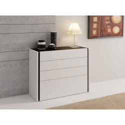 Alba lacquered chest of drawers