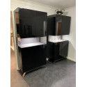 Glamour black gloss display cabnet with LED lights