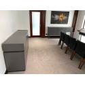 Livia II - grey matt lacquered sideboard with drawers