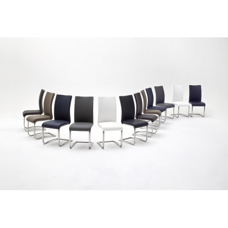 Arco dining chair in eco leather finish