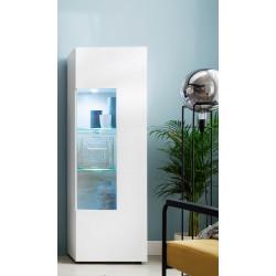 Bella LED Display Cabinet in White Matt