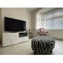 Diana 121cm white gloss TV Unit with LED lights