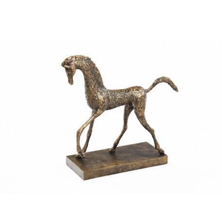 HORSE decorative Sculpture Old Gold 52 x 18 x 50 cm