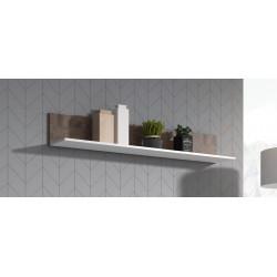 MOVE Shelf in Grey Matt and Nut Wood Imitation Finish