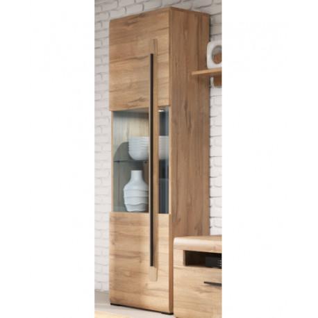 Tulsa Display Cabinet in Grandson Oak Imitation
