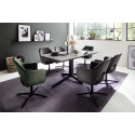Vallo swivel dining chair with black metal legs