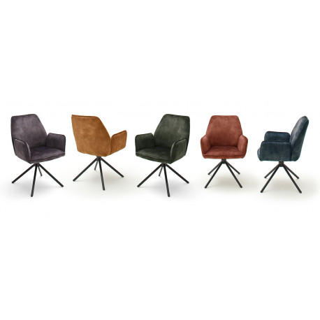 Ottawa dining chair with armrests in various colours