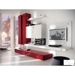 Red -luxury  lacquer wall set