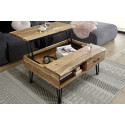 Mustique wood coffee table with lifting top