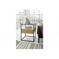 Elio oak imitation side table with steel frame