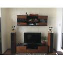 Vigo 163cm TV unit with glass top