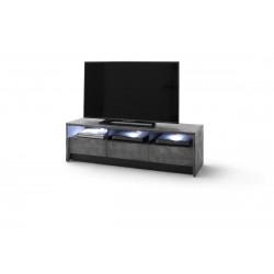 Calabria II assembled grey acacia wood TV unit