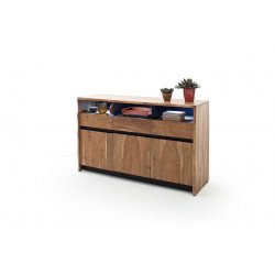 Calabria 145cm acacia wood assembled sideboard with LED lights