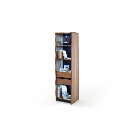 Calabria acacia wood assembled display cabinet with LED lights