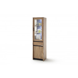 Calabria II acacia wood assembled display cabinet with LED lights