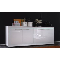 Salina II - gloss sideboard with LED lights