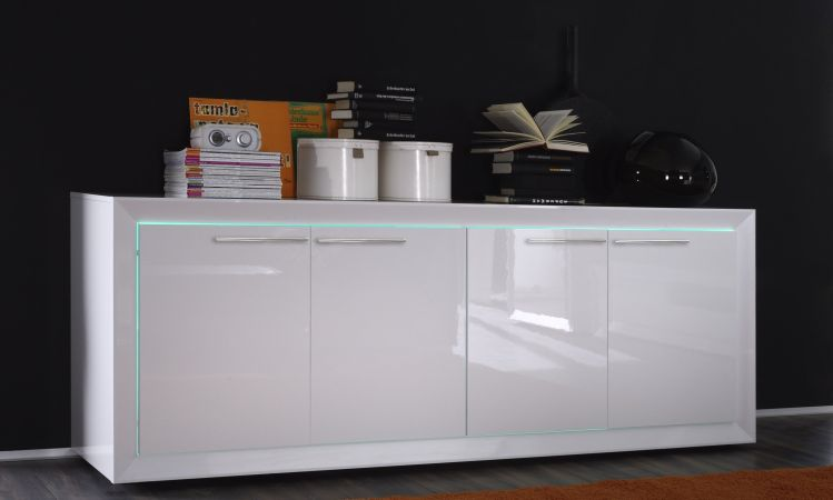 Stunning Mobile Laccato Bianco Contemporary - Ridgewayng.com ...