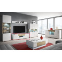 Toledo Small TV stand in White High Gloss and San Remo Wood Imitation
